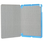 Protective 3-Section Folding PU Leather Case for Ipad AIR - Blue