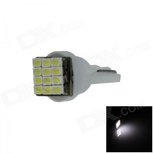 T10 / 280 / 2528 / W5W 0.6W 100lm 12 x SMD 3020 LED White Car Instrument lamp / Side Light - (12V)