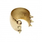 Exaggerated Rivets Ringent Bangle - Bronze