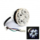 Universal 15W 1000lm 5-LED White Light Motorcycle Headlamp w/ Ten Colorful Angel Eye - (DC 12V)