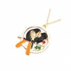 Fashionable Mandarin Duck And Magpie Pattern Sweater Chain - Multicolored