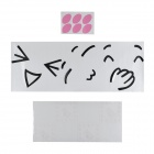 Aomei 0281 Smile Pattern PVC Toliet Sticker + Room Decor Wall Sticker + Gass Sticker - Pink + Black