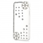 Christmas Rhinestone Snowflake Style Protective Plastic Back Case for Iphone 5 / 5s - Transparent