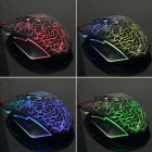 VM0-119 Classic 6-key Wired Game Mouse w/ Colorful LED Light - Black + Grey