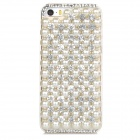 Protective Pearl & Rhinestone Decoration PC Back Case for Iphone 5 / 5s - White