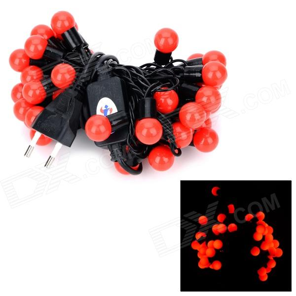 Kakashi PL-05 8W 350lm 50-LED Red Light Festival Ball Light Stripe - Black + Red (AC 220V)