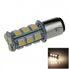 1157 / BAY15D 3W 280lm 18 x SMD 1210 LED Warm White Car Backup Light / Brake Lamp - (12V)
