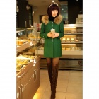 YLY-DXH306-8419 Fashion Mid-Long Cashmere Coat for Women - Green