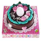 Electronic Blow Sensitive LED Candle and Cake (3*AG13 included)