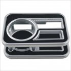 GZ-657 ABS Car Drink Holder - Black + Silver