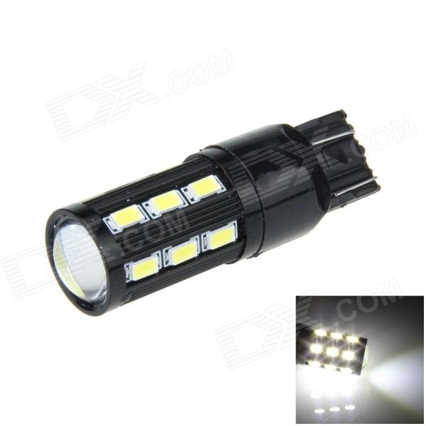 7443/7440/T20 8W 500lm 18-SMD 5630 LED + COB LED White Car Steering / Brake / Backup Light - (12V) tcart 2x auto led light daytime running lights turn signals for toyota prius highlander for prado camry corolla t20 wy21w 7440