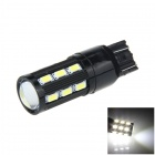 7443/7440/T20 8W 500lm 18-SMD 5630 LED + COB LED White Car Steering / Brake / Backup Light - (12V)