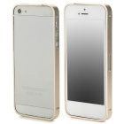 S-What Ultra-Slim Aluminum Alloy Bumper Frame Case for Iphone 5 / 5s - Champagne