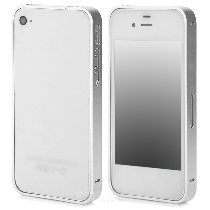 S-What Ultra-Slim Aluminum Alloy Bumper Frame Case for Iphone 4 / 4s - Silver nillkin gothic series ultra slim aluminum alloy bumper frame case for iphone 6 silver