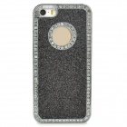 Stylish ABS + Rhinestone Back Case for Iphone 5 / 5s - Black + Silver