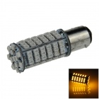 1157 / BAY15D 4W 300lm 102 x SMD 1210 LED Yellow Car Steering Light / Backup / Brake Lamp - (12V)