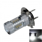 H7 80W 900lm 16-LED White Light Car Foglight / Headlamp - (12~24V)