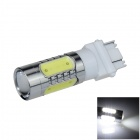 3157 / 3156 11W 500lm 1-LED + 4-COB LED White Car Brake Light / Steering Lamp - (12~24V)