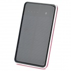 "Dual-USB Solar Mobile ""10000mAh"" Power Bank for Iphone / Samsung / HTC - Black + Red"
