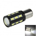 1156 / BA15S / G18 8W 500lm 18 x SMD 5630 LED + COB LED White Car Steering Light / Tail Light -(12V)