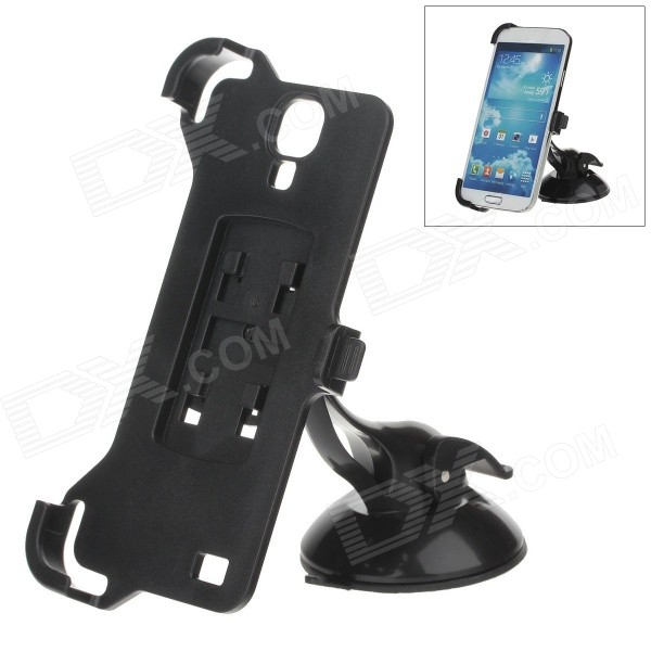 H60 360 Degree Rotation Holder Mount Bracket w/ Suction Cup for Samsung Galaxy S4 i9500 - Black 360 degree rotational car mount holder w suction cup for samsung galaxy note 3 n9000 n9002