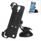 H60 360 Degree Rotation Holder Mount Bracket w/ Suction Cup for Samsung Galaxy S4 i9500 - Black