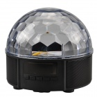 LT-189 Wireless Bluetooth V2.1 Speaker w/ LED Magic Ball Light - Black + Transparent
