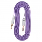 3.5mm TRS Male to Male Audio Flat Cable - Purple + White (2m)