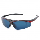 FJQXZ Cycling UV400 Protection PC Sunglasses w/ Replaceable Lens - Black