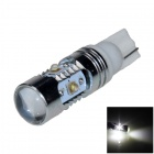 T10 / 194 / W5W 30W 600lm 6-LED White Light Car Headlamp / Clearance / Side Lamp - (12~24V)