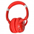 Kubite K-898 Bluetooth V3.0+EDR Stereo Headphone w/ Micro SD Card Slot / FM - Red + White