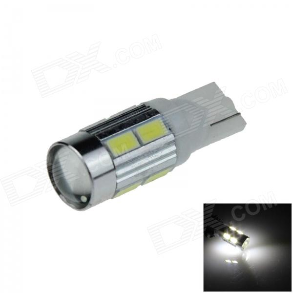 T10 / 194 / W5W 2W 180lm 10 X SMD 5630 LED Linse weiß Auto Clearance Lampe / Licht - Side (9 ~ 14V)