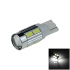 T10 / 194 / W5W 2W 180lm 10 x SMD 5630 LED Lens White Car Clearance lamp / Side Light - (9~14V)