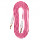 3.5mm TRS Male to Male Audio Flat Cable - Deep Pink + White (2m)