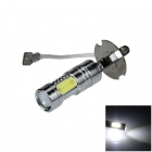 H3 11W 600lm 1-LED + 4-COB LED White Light Car Foglight / Headlamp - (12~24V)