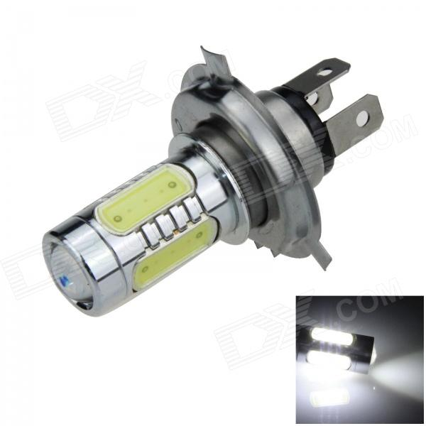H4 11W 600lm 1-LED + 4-COB LED White Light Car Foglight / Headlamp - (12~24V) h3 11w 400lm 1 led 4 cob white light car foglight headlamp dc 12 24v