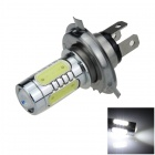 H4 11W 600lm 1-LED + 4-COB-LED White Light Car Foglight / Scheinwerfer - (12 ~ 24V)