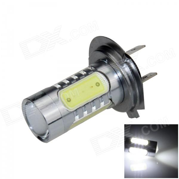 H7 11W 600lm 1-LED + 4-COB LED White Light Car Foglight / Headlamp - (12~24V) h3 11w 400lm 1 led 4 cob white light car foglight headlamp dc 12 24v
