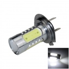H7 11W 600lm 1-LED + 4-COB LED White Light Car Foglight / Headlamp - (12~24V)