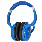 Kubite K-898 Bluetooth V3.0+EDR Stereo Headphone w/ Micro SD Card Slot / FM - Dark Blue + White