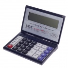 "MELN ML-9788TH Flip Style 5"" LCD 12-Digit Electronic Calculator - Silver + Deep Blue (2 x AAA)"