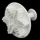 HG-106 3-in-1 Snowflake Pattern DIY Decorative Biscuit Cutter - White (3 PCS)