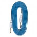 3.5mm TRS Male to Male Audio Flat Cable - Blue + White (2m)