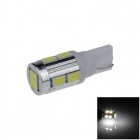T10 / 194 / W5W 2W 180lm 10 x SMD 5630 lámpara de Liquidación del coche LED Blanco / Light Side - (9 ~ 14V)