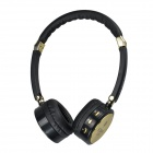 Kubite K-893 Bluetooth V3.0+EDR Stereo Headphone - Black + Gold