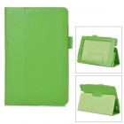 Styish Flip-open PU Leather Case w/ Holder for Amazon Kindle Fire HDX7 - Green