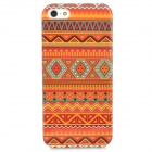 Graffiti Pattern Plastic Back Case for Iphone 5 / 5s - Red + Green