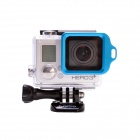 Anel Strap Fat Cat High Precision CNC Alluminum Alloy Lens para GoPro Hero 3 + - Azul