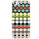 Lattices Pattern Stylish Plastic Back Case for Iphone 5 - White + Black