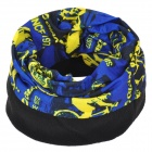 NUCKILY PH11 Outdoor Fleece Polyester Fiber Headscarf  - Black + Deep Blue